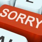 apology SMS, apology texts, apology thoughts